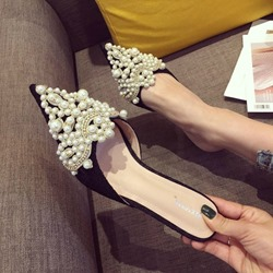 Ericdress Beads Stiletto Heel Womens Mules Shoes