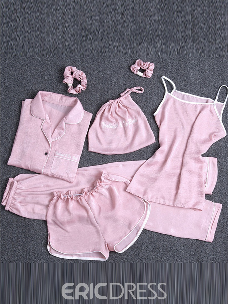 Ericdress Women 4pcs Cami Nightwear PJS Set with Matching Gift