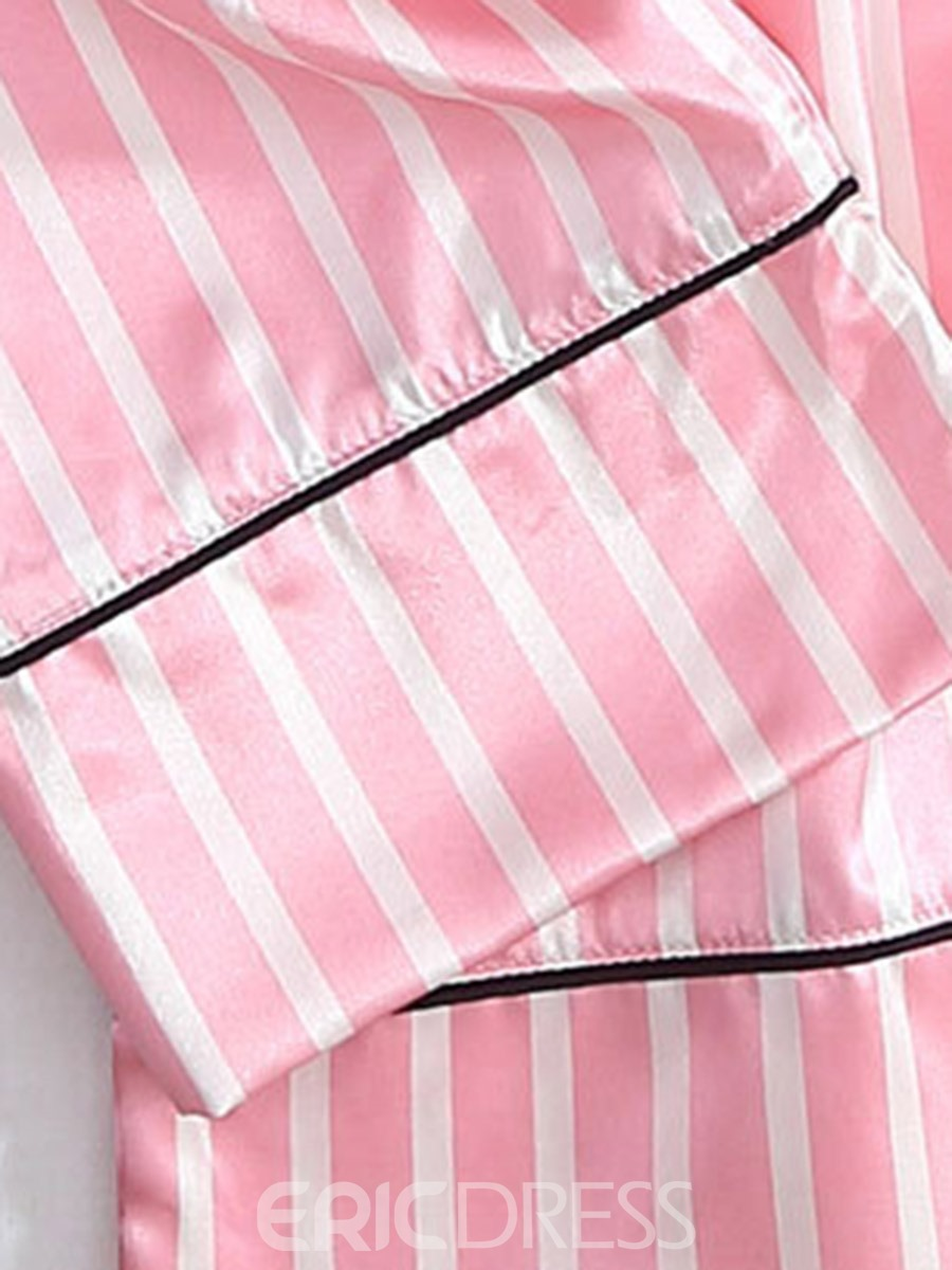 Ericdress Women 7pcs Stripe Cami Nightwear PJS Set with Matching Gift