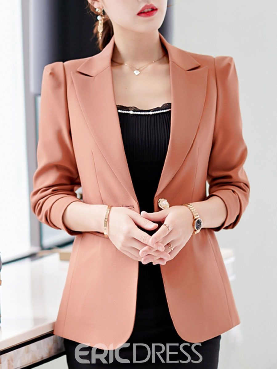 Ericdress Collar Long Sleeve One Button Formal Fall Blazer
