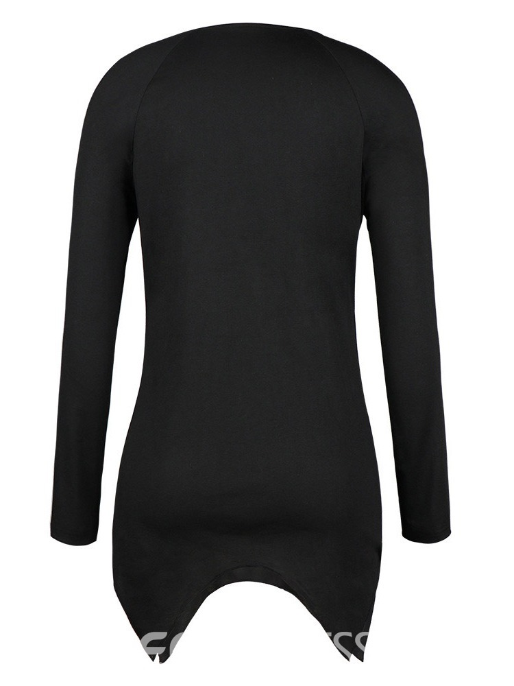 Ericdress Long Sleeve Round Neck Mid-Length Sexy Fall T-Shirt