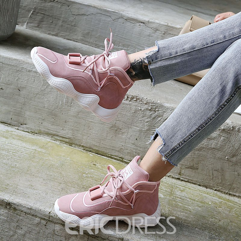 Ericdress Lace-Up Mid-Cut Upper Women's Sneakers