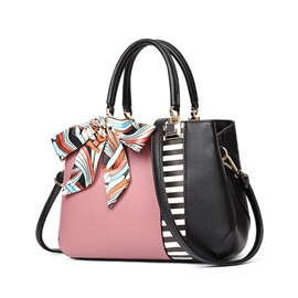 Ericdress Stripe PU Color Block Handbag