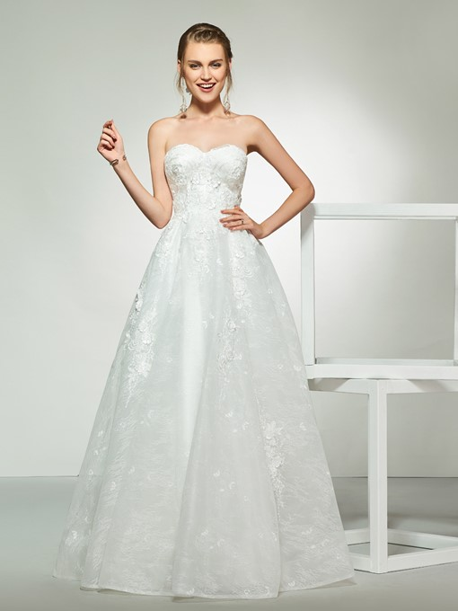 Ericdress A-Line Sweetheart Lace Wedding Dress