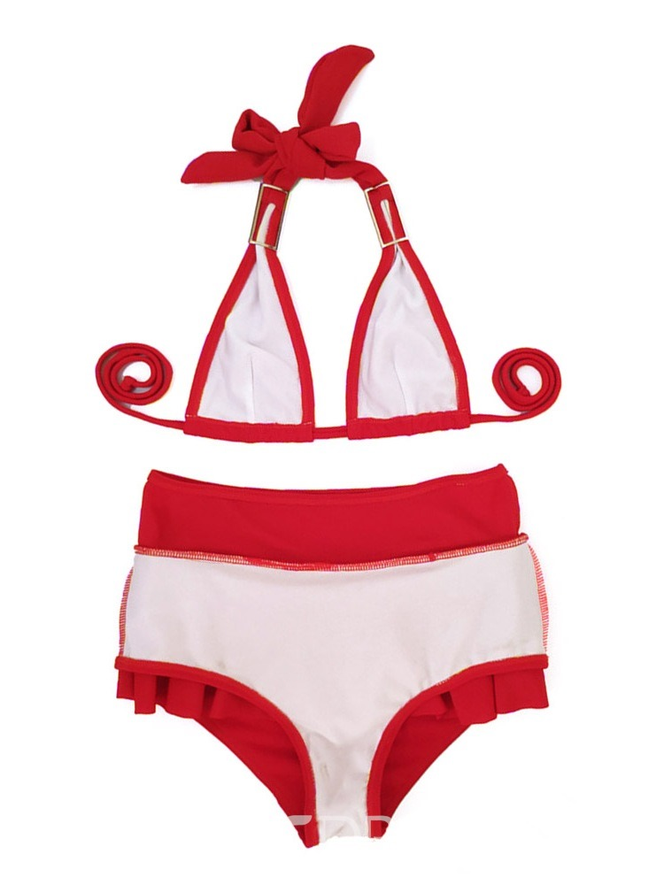 Ericdress Bikini Set Falbala Beach Look Swimwear