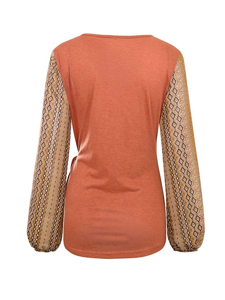 Ericdress Long Sleeve V-Neck Standard Casual Spring T-Shirt