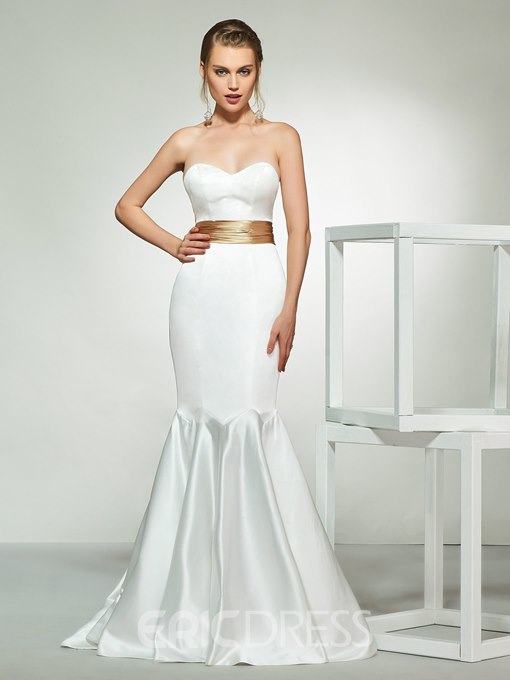 Ericdress Sweetheart Mermaid Wedding Dress with Cape