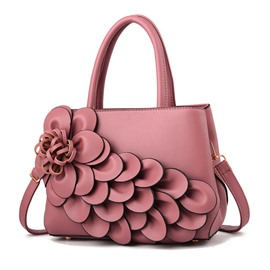 Ericdress Floral Applique PU Bag Set