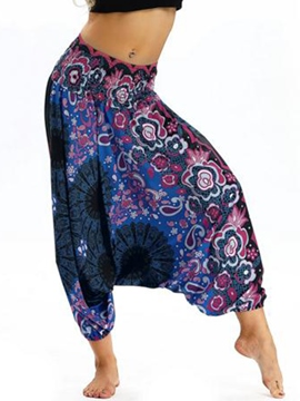 Ericdress Bohemian Print Full Length Yoga Harem Pants