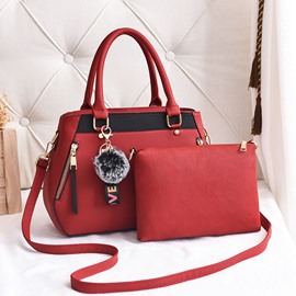 Ericdress Casual Patchwork PU Bag Set