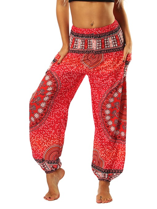Ericdress Women Print Geometric Loose Dance Yoga Pants