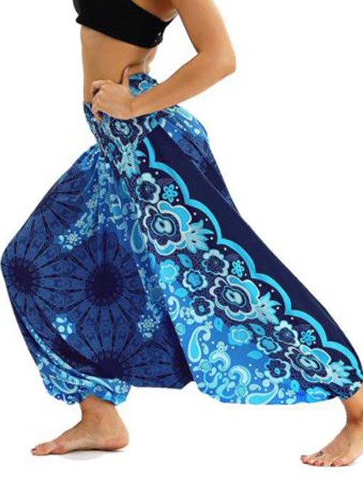 Ericdress Bohemian Geometry Print Yoga Harem Pants