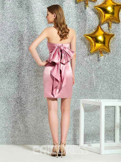 Ericdress Bowknot Strapless Short Cocktail Dress