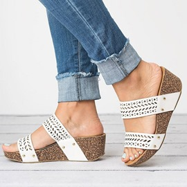 Ericdress Hollow Wedge Heel Women's Mules Shoes