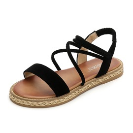 Ericdress Faux Suede Strappy Women's Flat Sandals