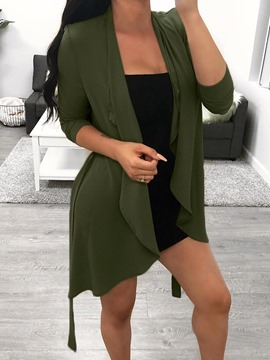 Ericdress Mid-Length Regular Long Sleeve Trench Coat