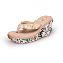 Ericdress Woven Thong Wedge Heel Women's Slippers