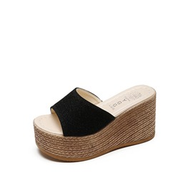 Ericdress PU Platform Wedge Heel Women's Slippers