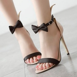 Ericdress Bowknot Heel Covering Stiletto Heel Women's Sandals