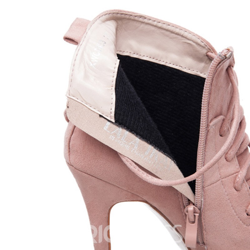 Ericdress Stiletto Heel Plain Pointed Toe Women's Ankle Boots