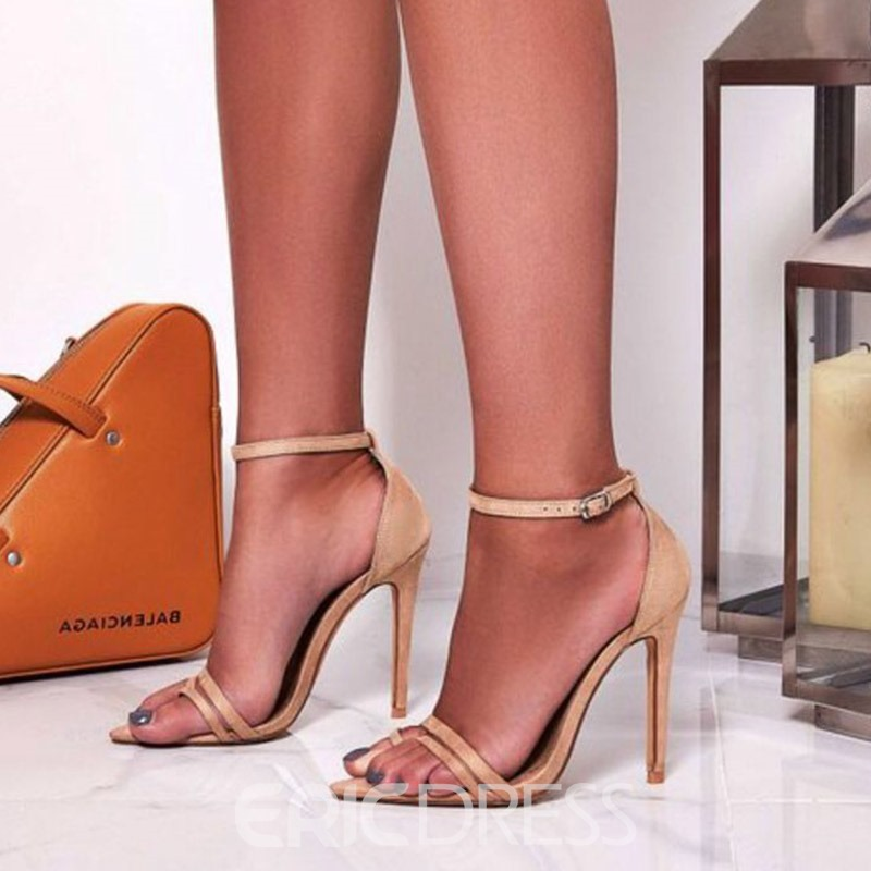 Ericdress Faux Suede Heel Covering Stiletto Heel Women's Nude Sandals