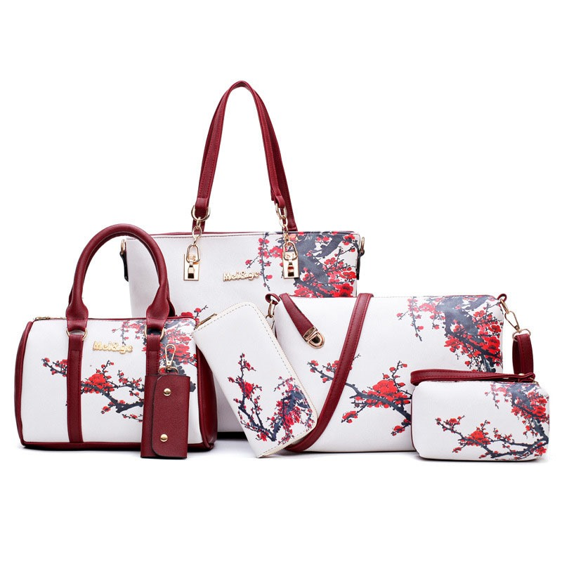 Ericdress Floral PU Print Bag Set