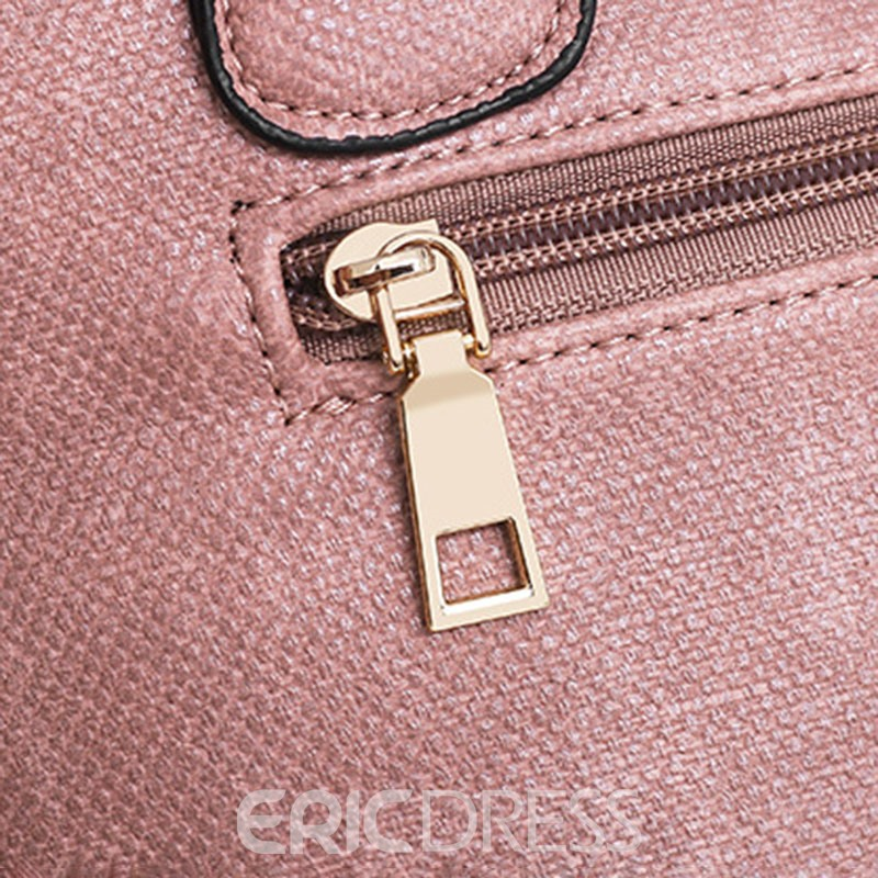 Ericdress PU Belt-Decorated Plain Bag Set