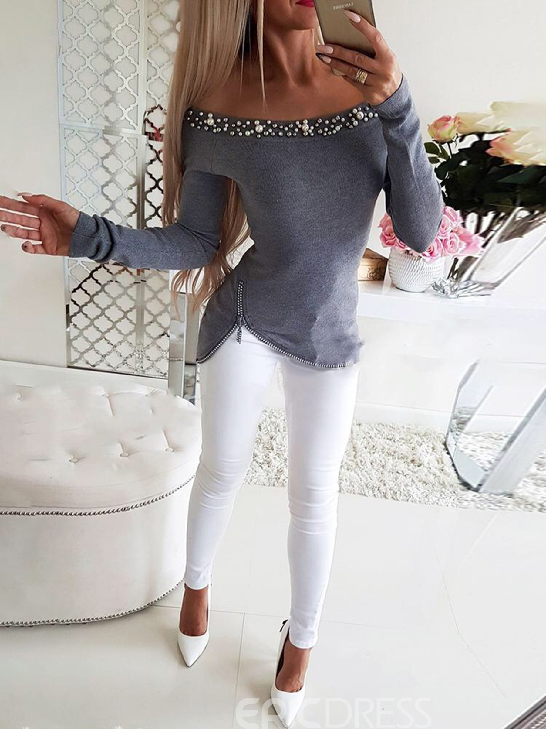 Ericdress Standard Long Sleeve Slim Sexy T-Shirt