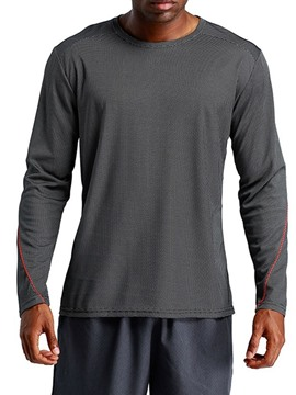 Ericdress Plain Round Neck Loose Mens Long Sleeve Sports T-shirt