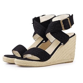 Ericdress PU Wedge Heel Ankle Strap Women's Sandals
