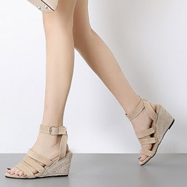 Ericdress PU Woven Wedge Heel Women's Sandals