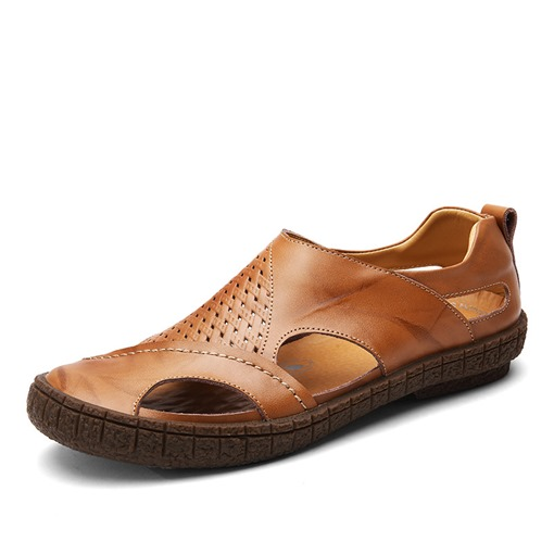 Ericdress Hollow Closed Toe Men's Sandals