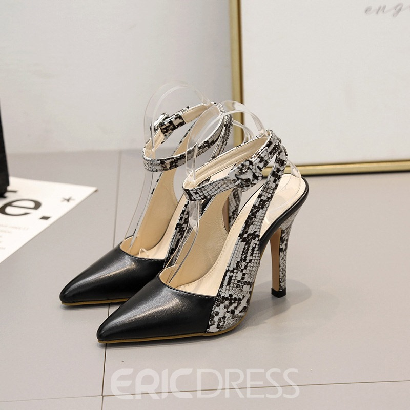 Ericdress Alligator Pattern Ankle Strap Pointed Toe Women's Sandals