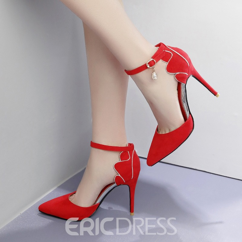 Ericdress Faux Suede Buckle Stiletto Heel Women's Pumps