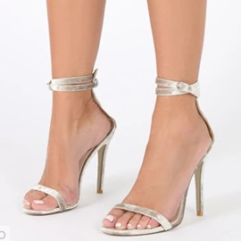 Ericdress Plain Buckle Heel Covering Stiletto Heel Women's Sandals