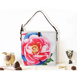 Ericdress Floral Chinese Canvas Square Shoulder Bags