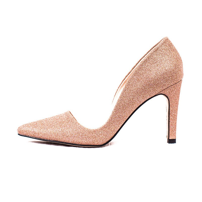Ericdress PU Sequin Pointed Toe Stiletto Heel Women's Pumps