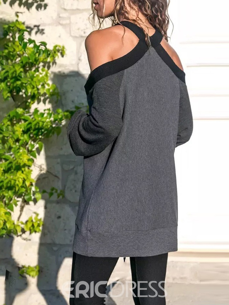 Ericdress Backless Loose Fall Sweater