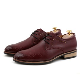Ericdress Plain Rivet Pointed Toe Men's Dress Shoes