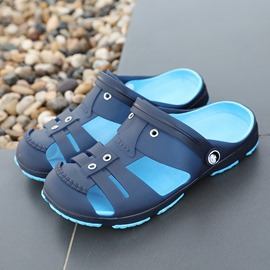 Ericdress Plain Slip-On Round Toe Men's Sandals