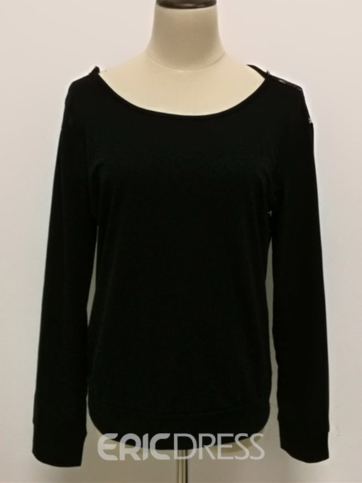 Ericdress Lace-Up Standard Round Neck Sexy T-Shirt