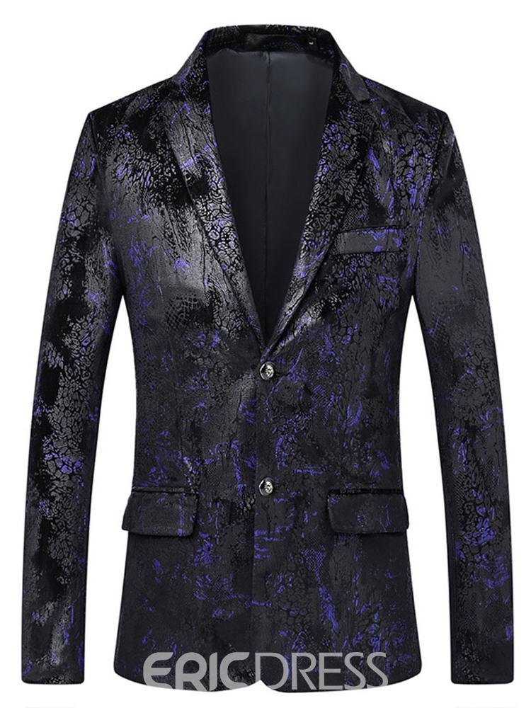 Ericdress Printed Two Button Notched Lapel Mens leisure Blazer