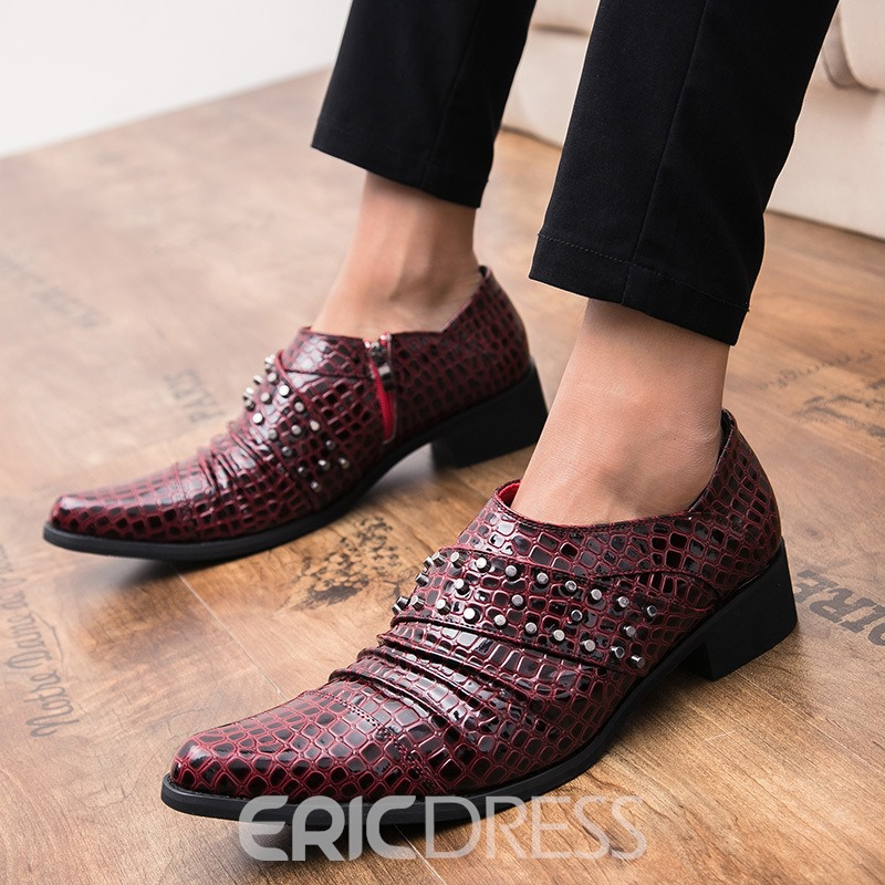 Ericdress PU Rivet Pointed Toe Men's Dress Shoes