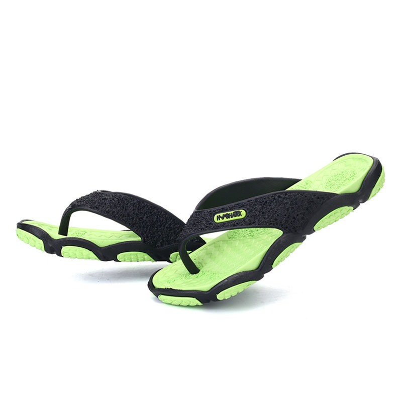 Ericdress PVC Color Block Thong Men's Slippers
