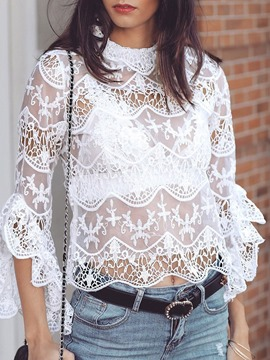 Ericdress Lace Standard Nine Points Sleeve Blouse