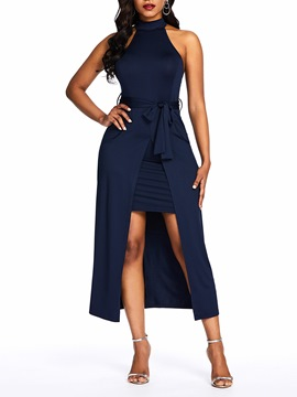 Ericdress Sleeveless Mid-Calf Split Asymmetrical Pullover Dress