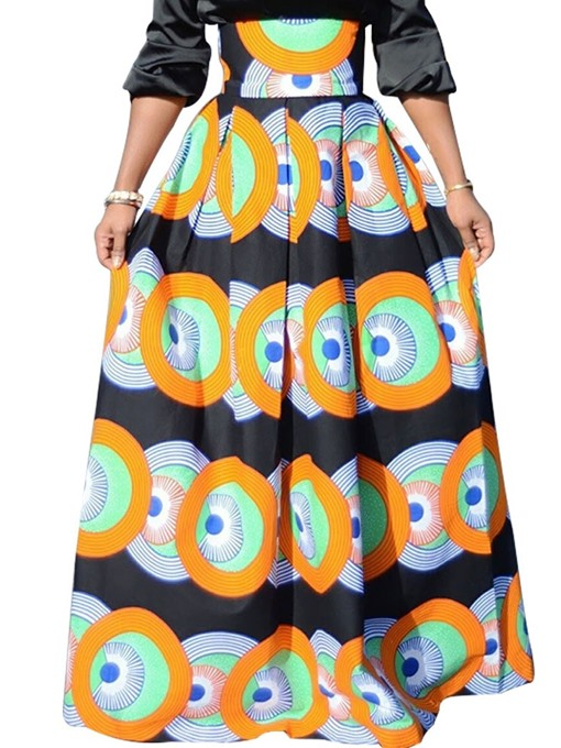 Ericdress A-Line Ankle-Length Geometric Print Skirt