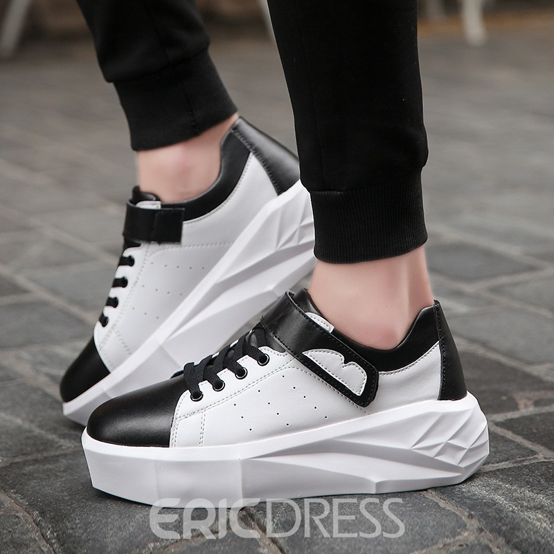Ericdress PU Patchwork Round Toe Men's Skate Shoes