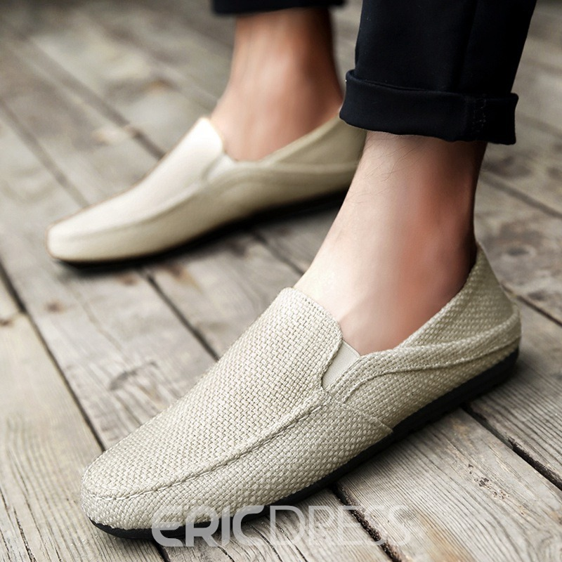 Ericdress Cloth Round Toe Slip-On Men's Comfortable Shoes