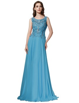 Ericdress A-Line Floor-Length Evening Dress